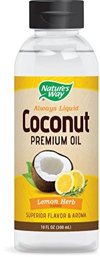 Nature's Way Premium Coconut Oil Liquid Lemon Herb, 10 Ounce (300 (Lemon Oil Cooking)
