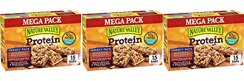 Nature Valley Peanut Butter Dark Chocolate, Salted Caramel Nut, Almond & Protein Chewy Bars, 15 Bars (3 Boxes) by Nature Valley (Image #1)