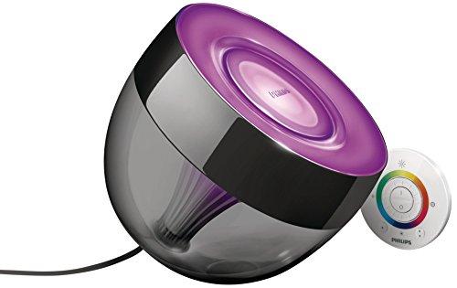 Philips Living Colors Iris, Energiesparende LED-Technologie mit 10 Watt,16 Millionen Farben, mit Fernbedienung, schwarz 7099930PH