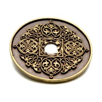 Antique Brass Carpe Diem Hardware 537-3 Bacchus Escutcheon