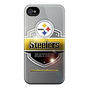 Iphone 4/4s Cases Covers - Slim Fit Protector Shock Absorbent Cases (pittsburgh Steelers)