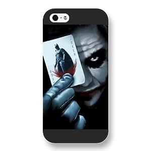 UniqueBox - Customized Personalized Black Frosted iPhone 5/5s Case, The Joker, Batman Logo, Batman iPhone 5s case, The Joker, Batman Logo, Batman iPhone 5 case
