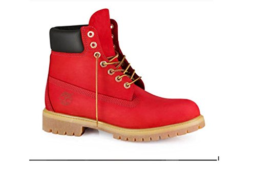 Custom Red Timberland Boots Men Women Juniors by Eshays