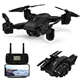 Drone with 1080P Camera for Adults,5G WiFi FPV Foldable GPS Drone,30mins(15+15) Long Flight Time Quadcopter Drone with case- Follow me, Smart Return to Home (Black)