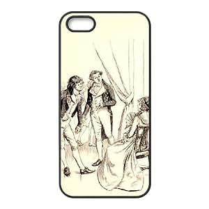Austen Happy iPhone 4 4s Cell Phone Case Black TPU Phone Case SV_118040