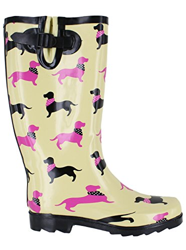 Wyre Valley Womens Pattern Animal Wellingtons Wellies Muck Boots Dachsund