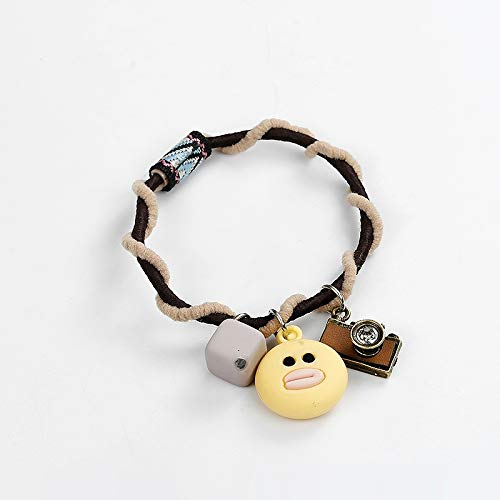 yi CAI Korean Girls Hair Accessories Jewelry Hair Band Ponytail Holder Duckling Panda Hair Hair Rope Hair Elastic Rope Ponytail Holder Rabbit Hair tie Rubber Band (Duck Hair Ring -