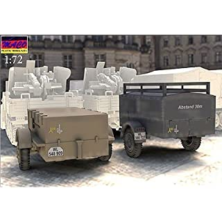 Maco 1/72 Germany and ammunition transport trailer 2 type set over Heart rack tow MC7219 Plastic