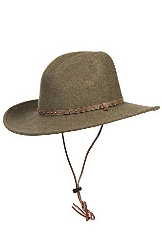 Men's Lonesome Trail Crushable Wool Stetson Hat, OLIVE MIX, Size MEDIUM