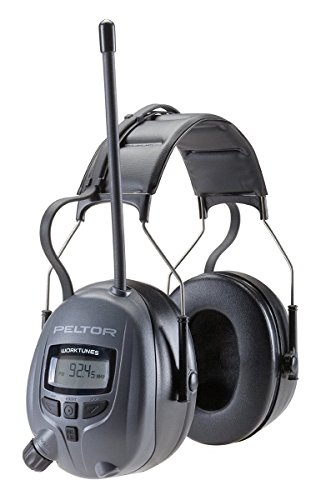 3M Peltor WorkTunes Digital Hearing Protector, MP3 Compatible with AM/FM Tuner Tuff Line Cord