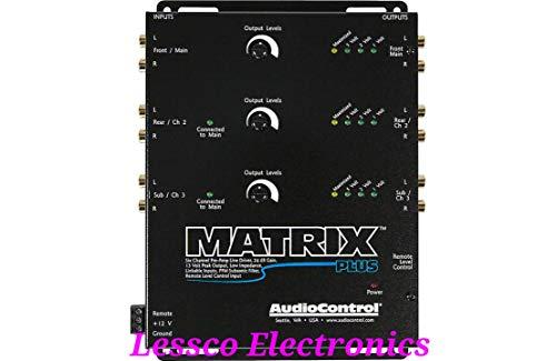 AudioControl Matrix Plus Black Six Channel Line Driver with Remote Level Control Input (Driver Sound Car)