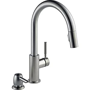 Delta Trask Spotshield Stainless 1 Handle Pull Down