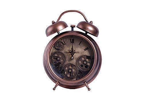 Homevibes Reloj de Mesa Vintage. Reloj de Escritorio de Acero con ...