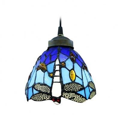 Hua 6 Width Tiffany Style Mini Pendant Light Spotlighted