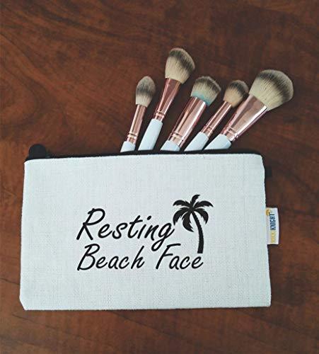 Rikki Knight Resting Beach Face Cosmetic Makeup Bag