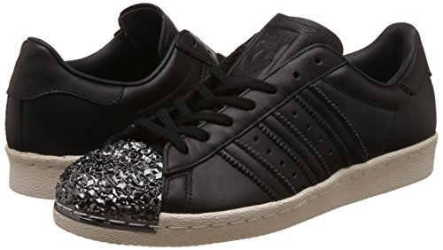 Femme Mode Toe Baskets Superstar Metal Adidas Noir 80's 3d 0qORpwBX