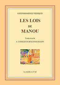Lois de Manou (Connaissance védique) - par Loiseleur-Deslongchamps