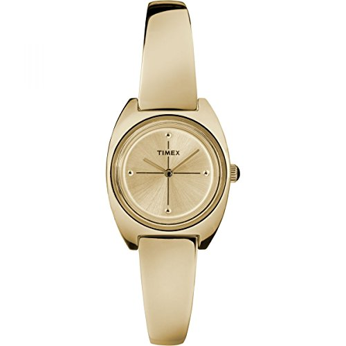 Timex Milano Gold Dial Stainless Steel Semi-Bangle Ladies Watch TW2R70000 (Milano Ladies Fashion Watch)