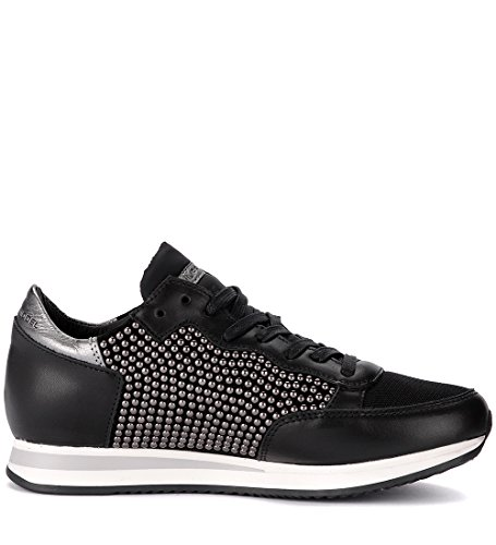 Micro Tropez De Philippe Sneaker Con Negro Model Negra Clavos Piel 4014R