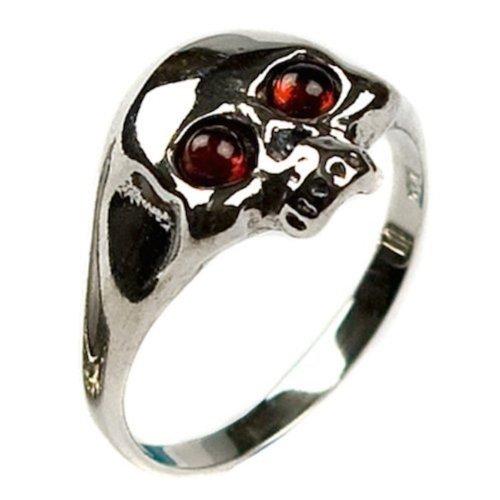 Honey Amber Sterling Silver Skull Ring Sizes 5,6,7,8,9,10,11,12
