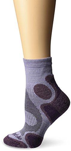 Bridgedale Women's CoolFusion Trail Diva Socks, Heather/Damson, Medium
