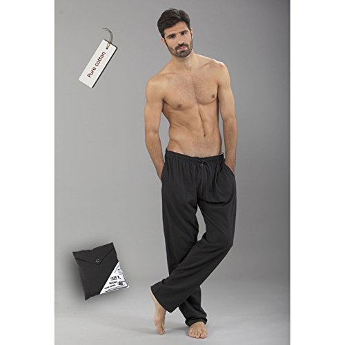 MASSANA - Pantalon Largo DE Pijama 100% ALGODÓN Pure Coton - Marengo, M