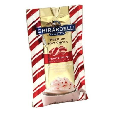 Ghirardelli Premium Hot Cocoa Mix with Peppermint, 1.5-Oz Single Serve Packet (12 Pack)