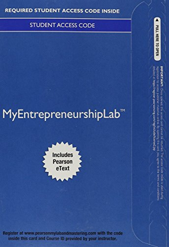 MyLab Entrepreneurship with Pearson eText -- Access Card -- for Essentials of Entrepreneurship and Small Business Management