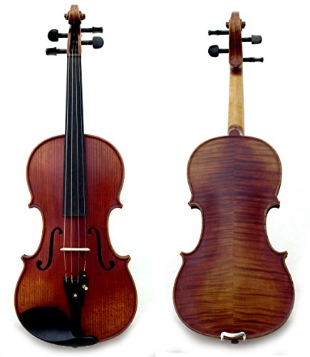 Sky Guarantee Mastero Sound Copy of Stradivarius 4/4 Size Professional Hand-made 4/4 Full Size Acoustic Two Piece Back Violin Antique Style Ebony Part…
