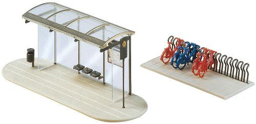 Faller 272543 Bus Stop Shelter with BikeRk N Scale Scenery and Accessories