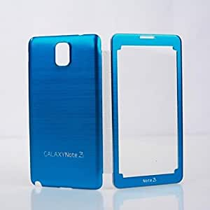 LZX PU Leather with Hard Metal Wire Drawing Battery Housing Back Cover for Samsung Galaxy Note 3 , Silver