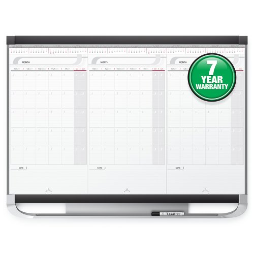 - Quartet Prestige 2 Sliding Three Month Calendar Board, 3 x 2 Feet, Total Erase Surface (CMP32P2)