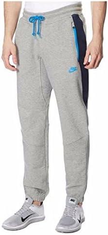 Pantalones de entrenamiento Nike, con forro polar Gris gris/azul L: Amazon.es: Ropa y accesorios