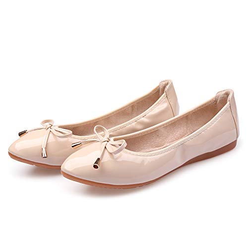FLYRCX Moda Casual Suave y cómodo Suave Plegable Zapatos de Baile Damas Zapatos Boca Baja Zapatos Planos Mujeres Embarazadas Zapatos Solos Zapatos D