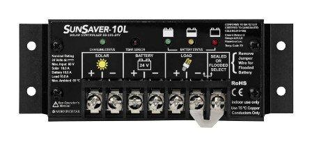 Morningstar SS-10L-24V SunSaver 10 Amp Charge Controller LVD by SunSaver