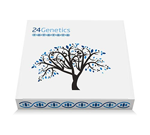 24Genetics 5-in-1 DNA Test for Ancestry (Regional), Health, Nutrigenetics, Skin Care and Sports. Includes at-Home Swab Collection kit