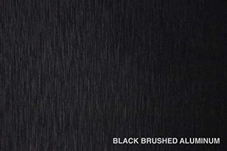 Black Brushed 60 Inch x 10ft 50sq ft Cast Decal Automotive Use Bubble and Air-Free Car Wrap Vinyl Exterior 3MIL-VViViD