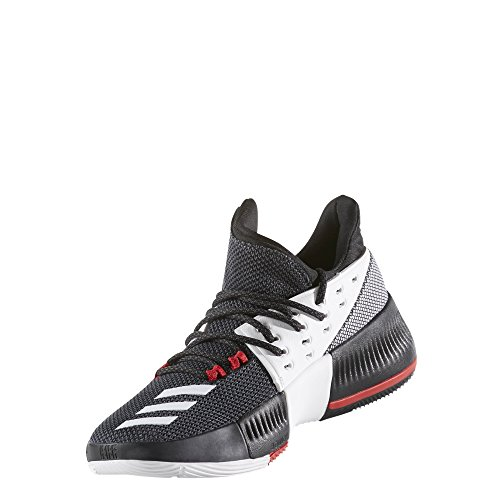 adidas D Lillard 3 J BW0536 Big Kid Basketball Shoes Sz 4 Black/White/Scarlet (Iv Shoes Basketball)
