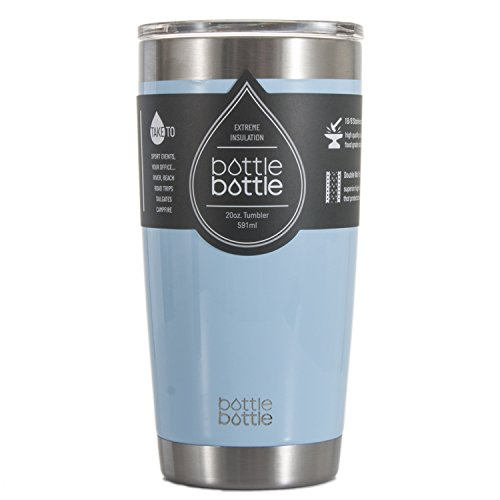 Bottlebottle 20 oz Insulated Tumbler Cup Stainless Steel Travel Coffee Mug, Powder Blue