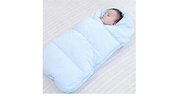 nohbi Recién Nacido Manta Envolvente,Saco de Dormir de algodón con plumón, Saco de Dormir Grueso de Invierno, Azul,Saco de Dormir Swaddle: Amazon.es: Hogar
