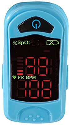Viverity Pulse Oximeter Fingertip Oxygen Saturation Monitor- Pulse Ox Oxygen Monitor - OTC Finger Heart Rate Monitor, Pediatric and Adult Use