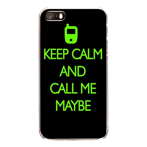 """Disagu Design Case Coque pour Apple iPhone 5 Housse etui coque pochette """"KEEP CALM AND CALL ME MAYBE"""""""