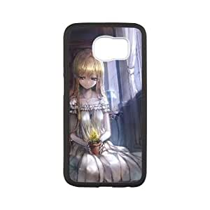 Blonde Girl In The Library Anime0 Samsung Galaxy S6 Cell Phone Case Black gift pp001_9421583