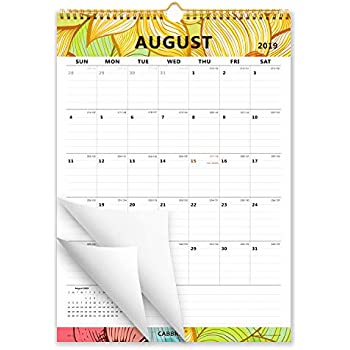 Amazon.com: Calendario de pared pequeño académico 2019-2020 ...