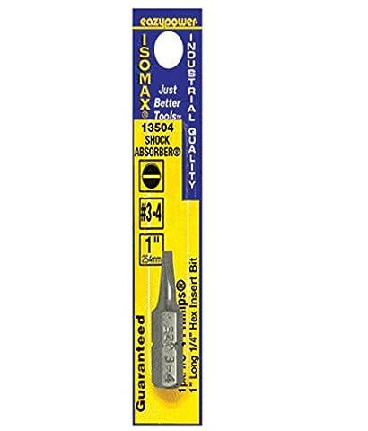 Eazypower 13504 Isomax #3-4 Slotted Insert Bit, 1