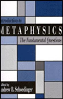 Book Introduction to Metaphysics: The Fundamental Questions (1991-11-19)