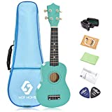 "NOT HOME® 21"" Soprano Ukulele with a Carrying Bag and a Digital Tuner, Specially Designed for Kids, Students and Beginners (Light Green)"