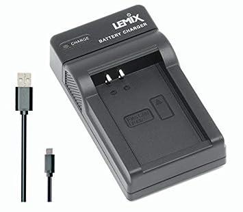 Lemix (LPE12) Cargador USB Ultra Slim para baterías Canon LP-E12 para Modelos (enumerados a continuación) Canon Series EOS & Rebel