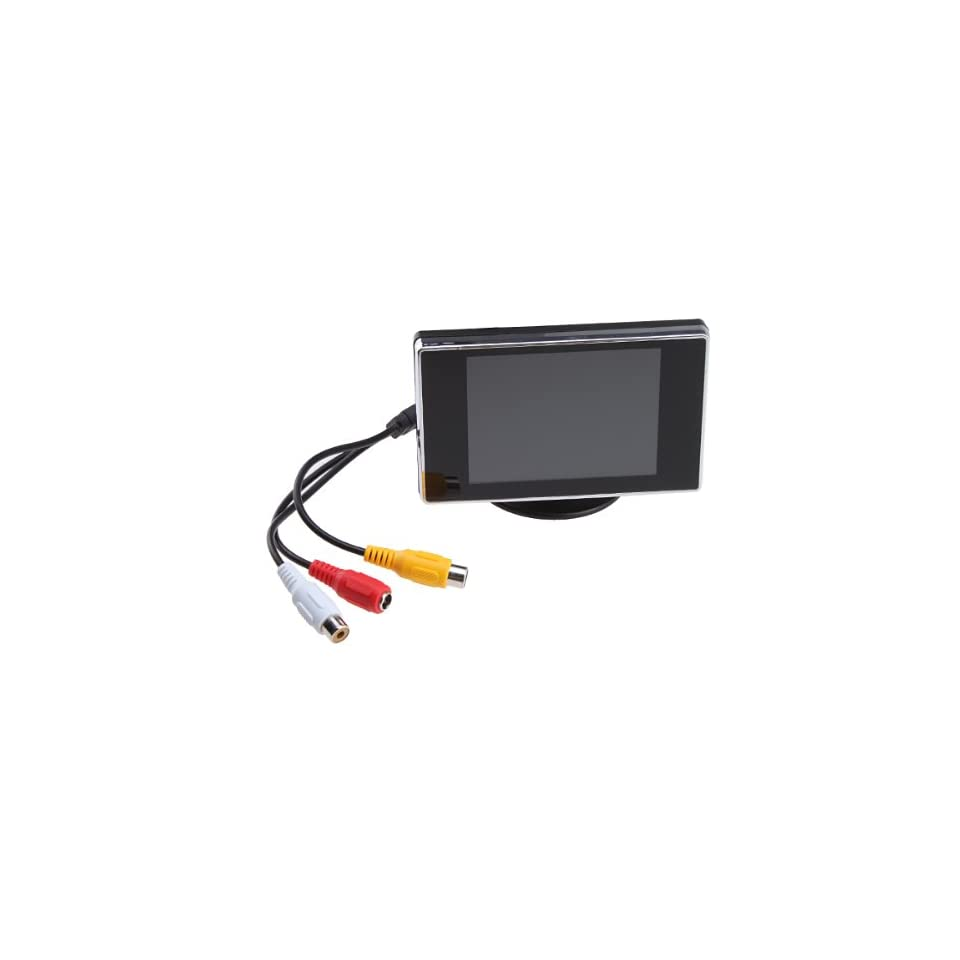 3.5 Inch TFT LCD Color Screen Rearview Monitor For Car PAL/NTSC 2 Systems Auto Switch