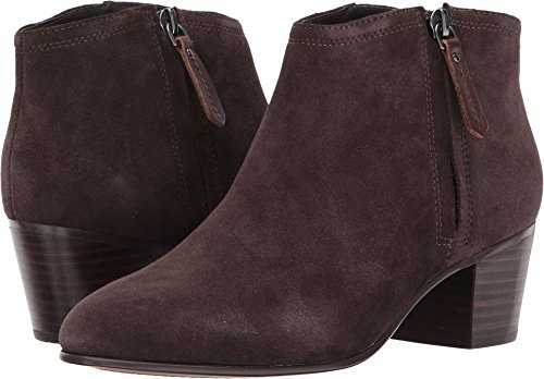 CLARKS Women's Maypearl Alice Ankle Bootie, Dark Brown Suede, 10 M US